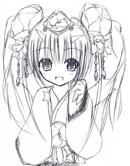 【チェンクロ】ツル姫を幼く描いてみた